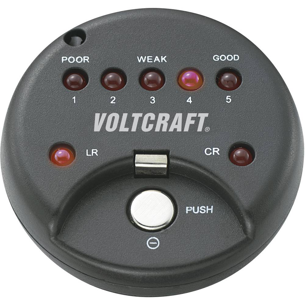 VOLTCRAFT tester gumbnih baterij VOLTCRAFT® tester gumbnih baterij LED alkalne in litijeve gumbne baterije