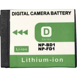 Baterija za kameru Conrad energy 3.6 V 650 mAh zamjenjuje originalnu bateriju NP-BD1, NP-FD1