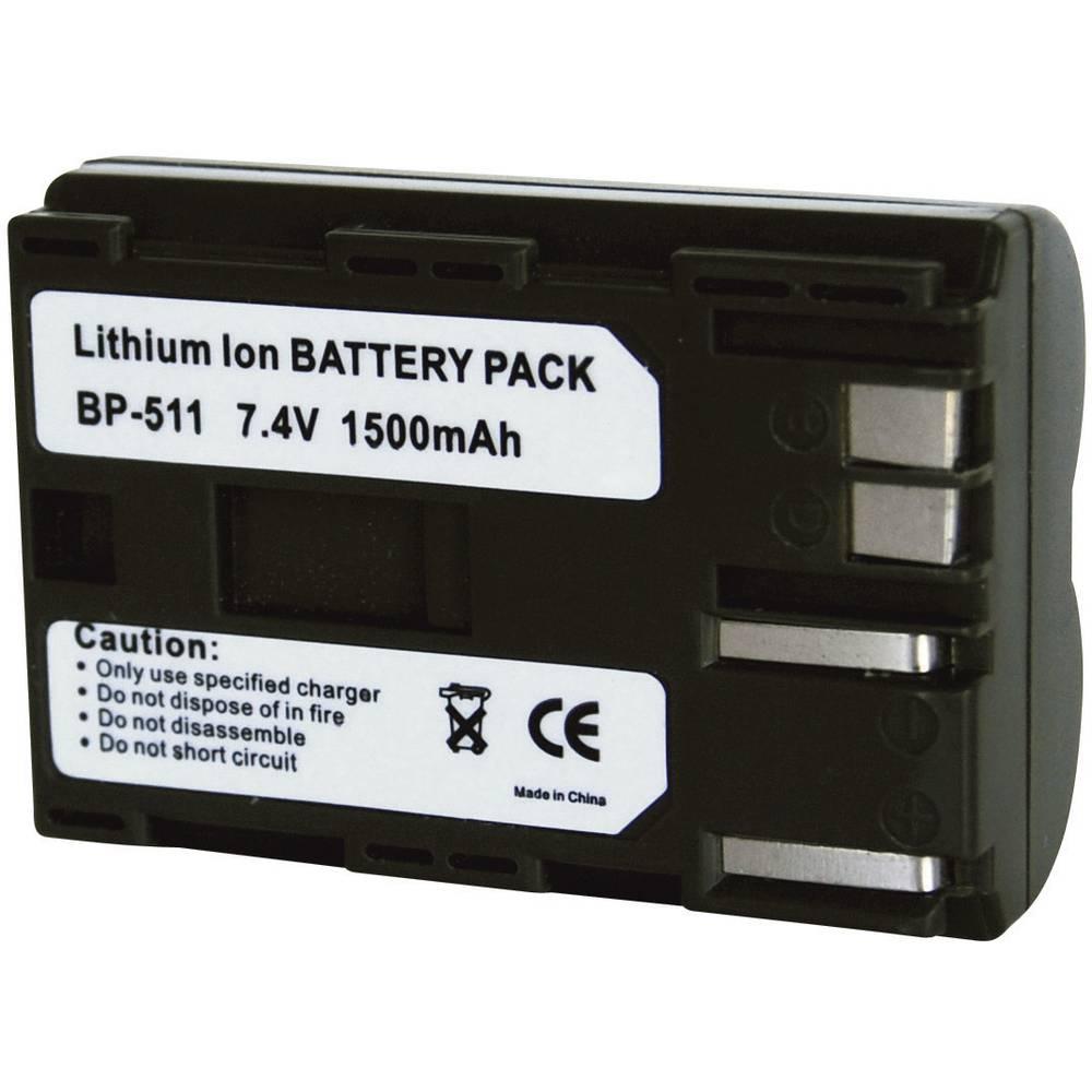 Akumulator za kamero Conrad energy nadomestek za originalni akumulator BP-511, BP-512, BP-514 7.4 V 1400 mAh