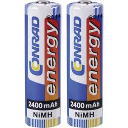Mignon (AA) akumulator NiMH Conrad energy HR06 2400 mAh 1.2 V 2 kosa