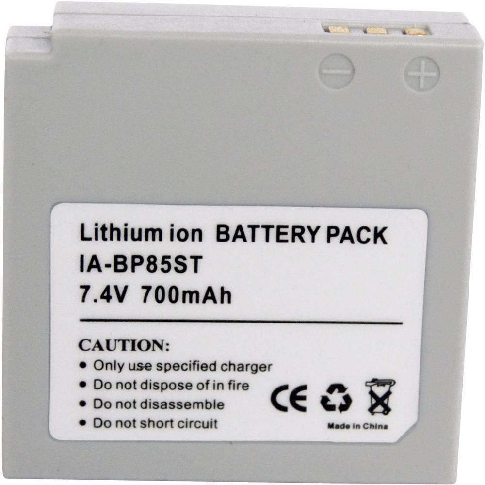 Kamera-batteri Conrad energy Erstatter original-batteri BP-85ST 7.4 V 650 mAh