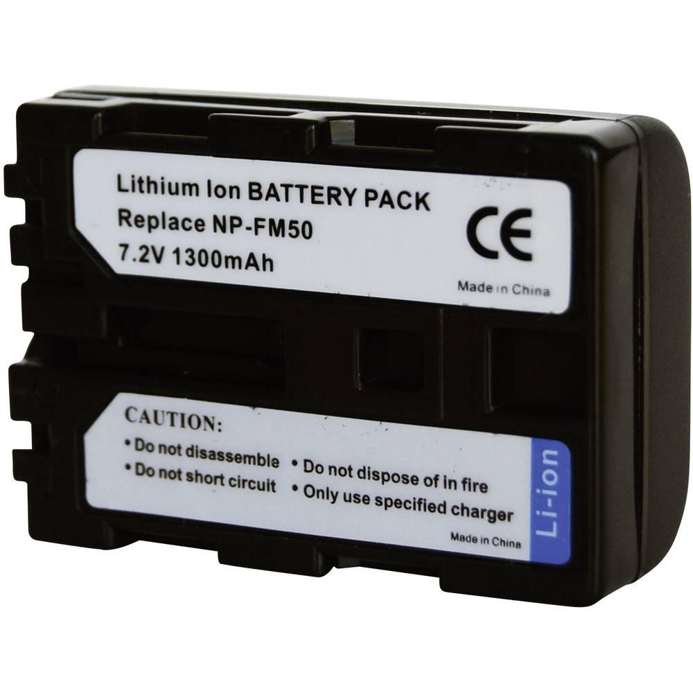 Akumulator za kamero Conrad energy nadomestek za originalni akumulator NP-FM30, NP-FM50, NP-FM51, NP-QM50, NP-QM51 7.2 V 1300 mA