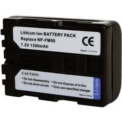 Kamerabatteri Conrad energy Ersättning originalbatteri NP-FM30, NP-FM50, NP-FM51, NP-QM50, NP-QM51 7.2 V 1300 mAh