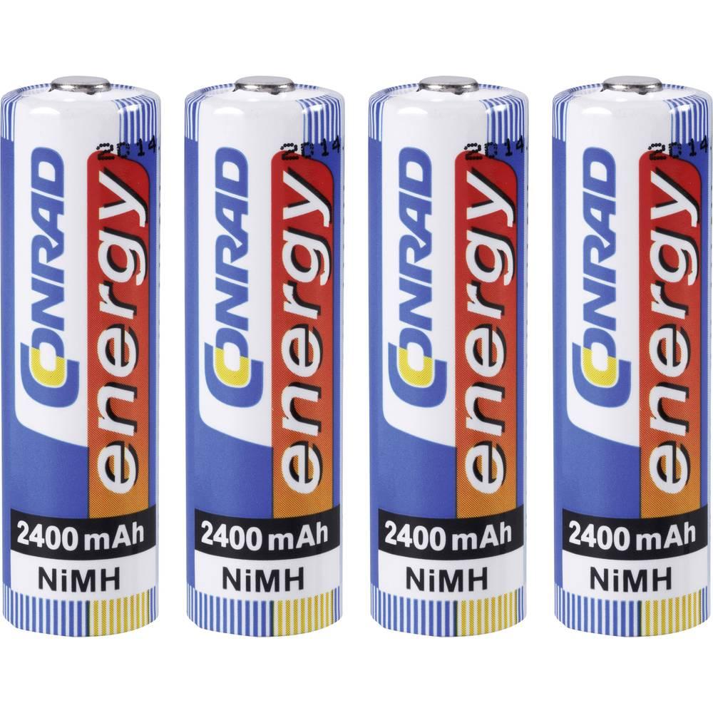 Mignon (AA) baterija na punjenje NiMH Conrad energy HR06 2400 mAh 1.2 V 4 kom.