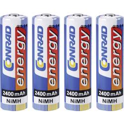Laddbart batteri R6 (AA) NiMH Conrad energy HR06 2400 mAh 1.2 V 4 st