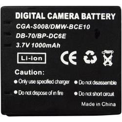 Kamerabatteri Conrad energy Ersättning originalbatteri CGA-S008, DP-330, DMW-BCE10, DB-70, BP-DC6E 3.7 V 650 mAh