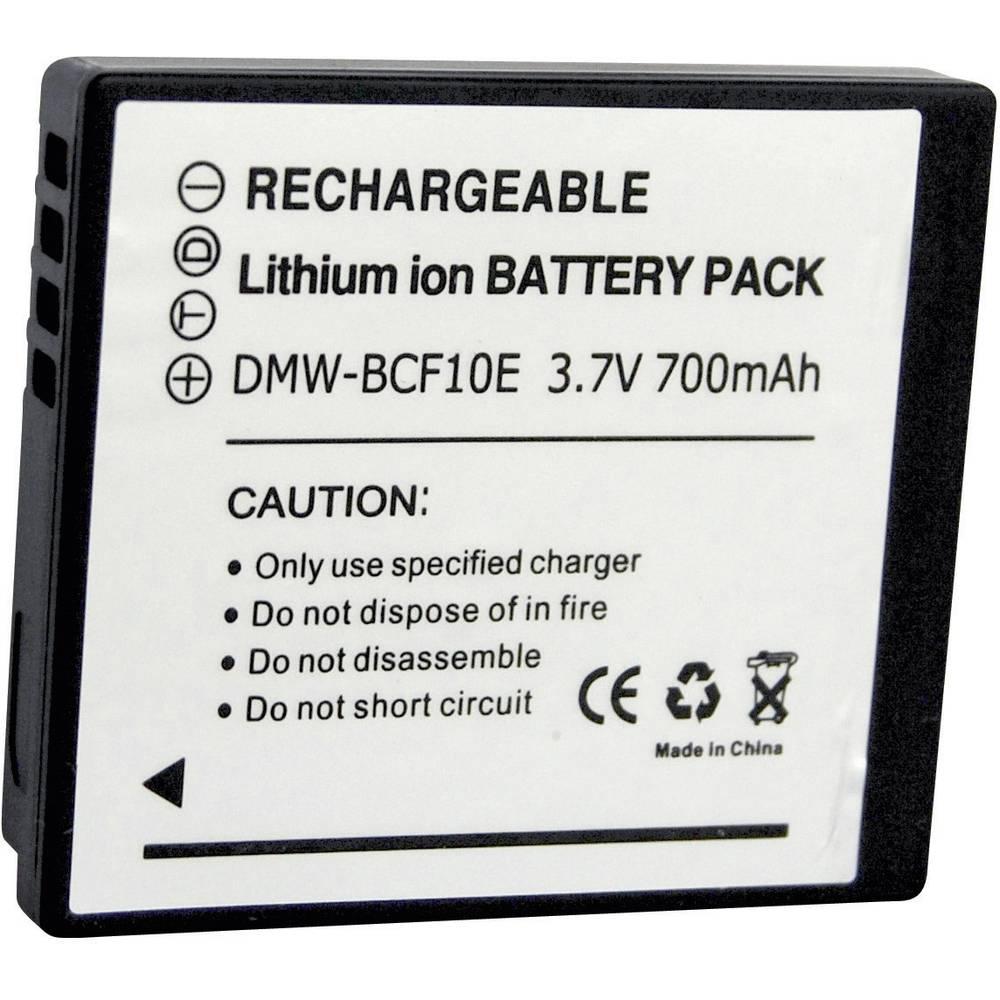 Akumulator za kamero Conrad energy nadomestek za originalni akumulator DMW-BCF10e 3.7 V 700 mAh