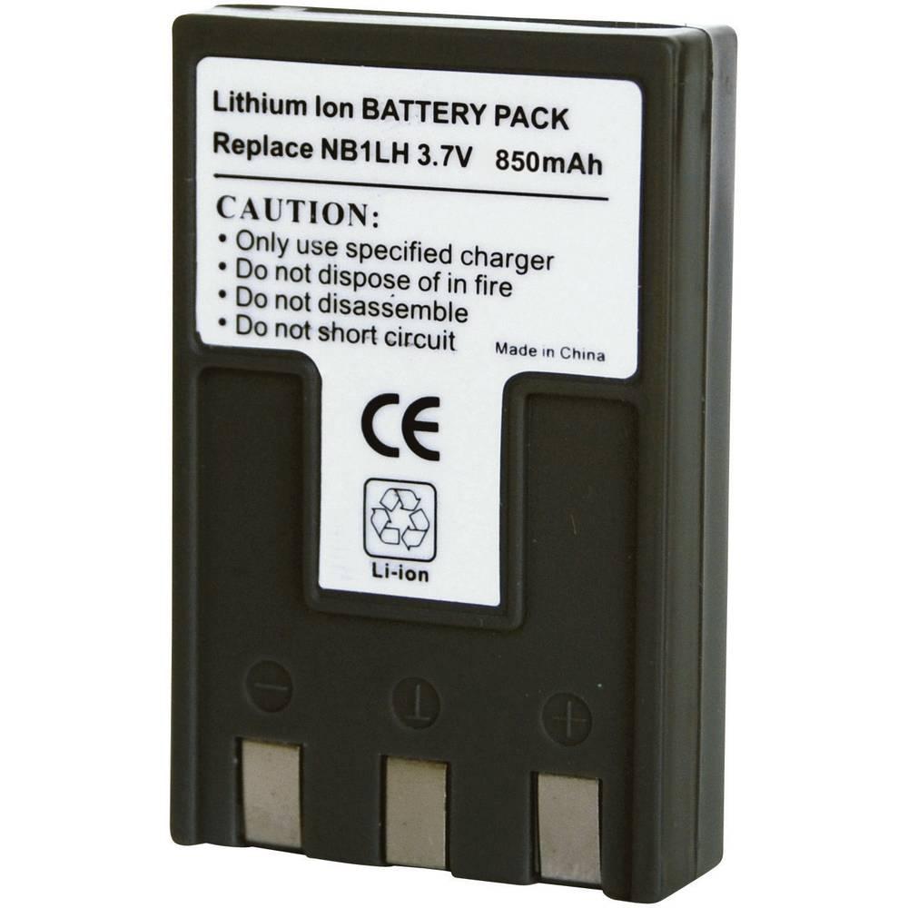 Akumulator za kamero Conrad energy nadomestek za originalni akumulator NB-1L, NB-1LH 3.7 V 850 mAh