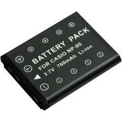 Kamera-batteri Conrad energy Erstatter original-batteri NP-80 3.7 V 500 mAh