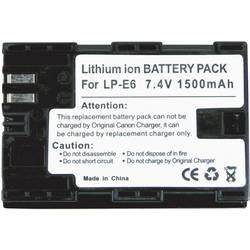 Baterija za kameru Conrad energy 7.4 V 1300 mAh zamjenjuje originalnu bateriju LP-E6