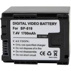 Kamerabatteri Conrad energy Ersättning originalbatteri BP-819 7.4 V 1400 mAh