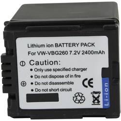 Kamerabatteri Conrad energy Ersättning originalbatteri VW-VBG260 7.2 V 2000 mAh