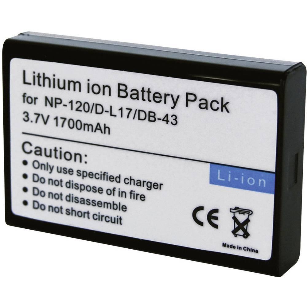Baterija za kameru Conrad energy 3.7 V 1700 mAh zamjenjuje originalnu bateriju NP-120, D-L17, DB-43