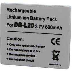 Kamera-batteri Conrad energy Erstatter original-batteri DB-L20 3.7 V 600 mAh