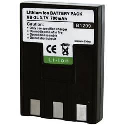 Kamerabatteri Conrad energy Ersättning originalbatteri NB-3L 3.7 V 650 mAh