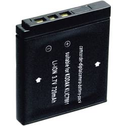 Kamerabatteri Conrad energy Ersättning originalbatteri KLIC-7001 3.7 V 600 mAh