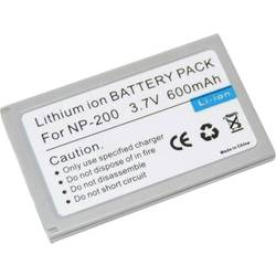 Kamera-batteri Conrad energy Erstatter original-batteri NP-200 3.7 V 600 mAh