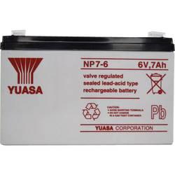 Svinčev akumulator 6 V 7 Ah Yuasa NP7-6 svinčevo-koprenast (AGM) 151 x 97 x 34 mm ploščati vtič 4.8 mm brez vzdrževanja
