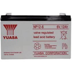 Svinčev akumulator 6 V 12 Ah Yuasa NP12-6 svinčevo-koprenast (AGM) 151 x 98 x 50 mm ploščati vtič 6.35 mm brez vzdrževanja