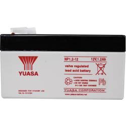 Svinčev akumulator 12 V 1.2 Ah Yuasa NP1.2-12 svinčevo-koprenast (AGM) 97 x 55 x 48 mm ploščati vtič 4.8 mm brez vzdrževanja
