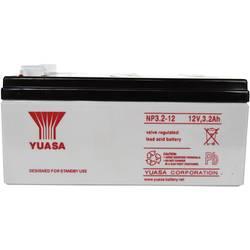 Svinčev akumulator 12 V 3.2 Ah Yuasa NP3.2-12 svinčevo-koprenast (AGM) 134 x 64 x 67 mm ploščati vtič 4.8 mm brez vzdrževanja