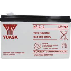 Svinčev akumulator 12 V 12 Ah Yuasa NP12-12 svinčevo-koprenast (AGM) 151 x 98 x 98 mm ploščati vtič 6.35 mm brez vzdrževanja