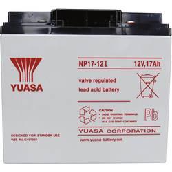 Svinčev akumulator 12 V 17 Ah Yuasa NP17-12 svinčevo-koprenast (AGM) 181 x 167 x 76 mm M5-vijačni priklop, brez vzdrževanja