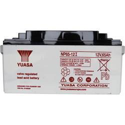 Svinčev akumulator 12 V 65 Ah Yuasa NP65-12 svinčevo-koprenast (AGM) 350 x 174 x 166 mm M6-vijačni priklop, brez vzdrževanja