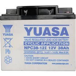Svinčev akumulator 12 V 38 Ah Yuasa NPC38-12 svinčevo-koprenast (AGM) 197 x 170 x 165 mm M5-vijačni priklop, brez vzdrževanja