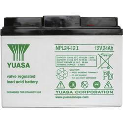 Svinčev akumulator 12 V 24 Ah Yuasa NPL24-12 svinčevo-koprenast (AGM) 166 x 125 x 175 mm M5-vijačni priklop, brez vzdrževanja