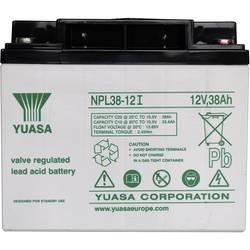 Svinčev akumulator 12 V 38 Ah Yuasa NPL38-12 svinčevo-koprenast (AGM) 197 x 170 x 165 mm M5-vijačni priklop, brez vzdrževanja