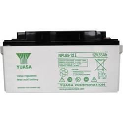 Svinčev akumulator 12 V 65 Ah Yuasa NPL65-12 svinčevo-koprenast (AGM) 350 x 174 x 166 mm M6-vijačni priklop, brez vzdrževanja