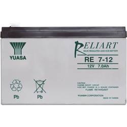 Svinčev akumulator 12 V 7 Ah Yuasa RE7-12 svinčevo-koprenast (AGM) 151 x 98 x 65 mm ploščati vtič 6.35 mm brez vzdrževanja