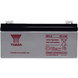 Svinčev akumulator 6 V 3 Ah Yuasa NP3-6 svinčevo-koprenast (AGM) 134 x 64 x 34 mm ploščati vtič 4.8 mm brez vzdrževanja