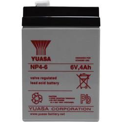 Svinčev akumulator 6 V 4 Ah Yuasa NP4-6 svinčevo-koprenast (AGM) 70 x 106 x 47 mm ploščati vtič 4.8 mm brez vzdrževanja