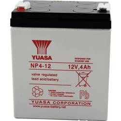 Svinčev akumulator 12 V 4 Ah Yuasa NP4-12 svinčevo-koprenast (AGM) 90 x 106 x 70 mm ploščati vtič 4.8 mm brez vzdrževanja