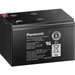 Svinčev akumulator 12 V 15 Ah Panasonic 12 V 15 Ah LC-CA1215P1 svinčevo-koprenast (AGM) 151 x 100 x 98 mm ploščati vtič 6.35 mm