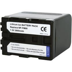 Kamerabatteri Conrad energy Ersättning originalbatteri NP-FM90, NP-QM91 7.2 V 3900 mAh