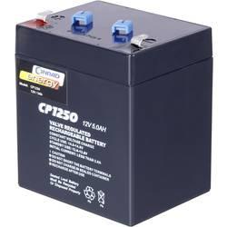 Svinčev akumulator 12 V 5 Ah Conrad energy CE12V/5Ah 250914 svinčevo-koprenast (AGM) 90 x 101 x 70 mm ploščati vtič 4.8 mm