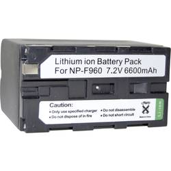 Kamera-batteri Conrad energy Erstatter original-batteri NP-960, NP-970, NP-530, NP-730, NP-930, NP-F330, NP-F530, NP-F550, NP-F7