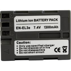 Kamerabatteri Conrad energy Ersättning originalbatteri EN-EL3E 7.4 V 1300 mAh