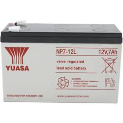 Svinčev akumulator 12 V 7 Ah Yuasa NP7-12 L YUANP7-12L svinčevo-koprenast (AGM) 151 x 98 x 65 mm ploščati vtič 6.35 mm