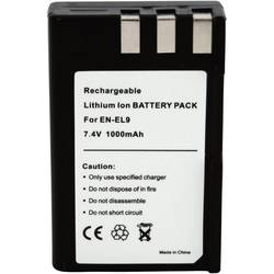 Kamera-batteri Conrad energy Erstatter original-batteri EN-EL9 7.4 V 900 mAh