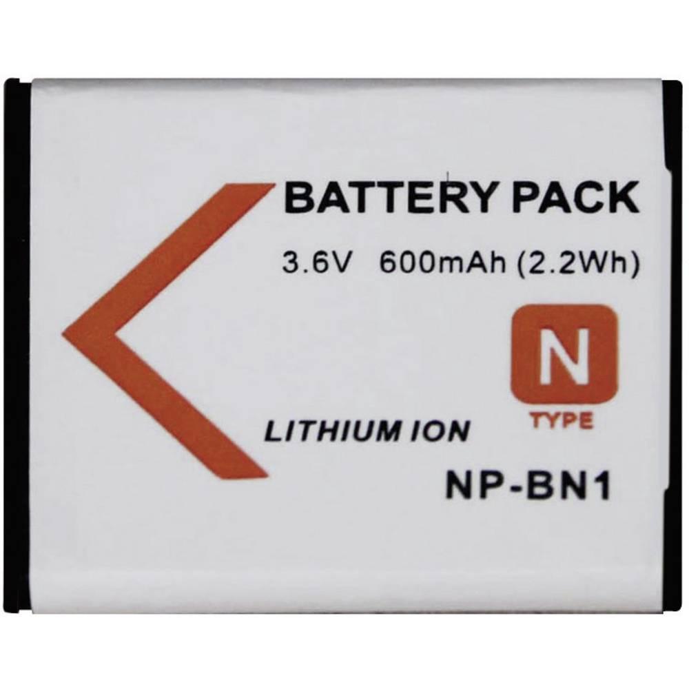 Baterija za kameru Conrad energy 3.6 V 500 mAh zamjenjuje originalnu bateriju NP-BN1