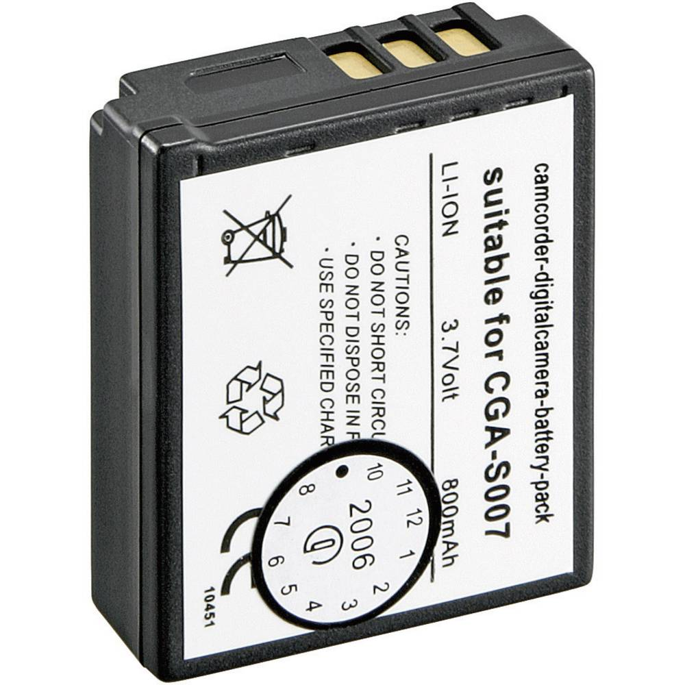 Akumulator za kamero Conrad energy nadomestek za originalni akumulator CGA-S007, CGA-S007E 3.7 V 900 mAh