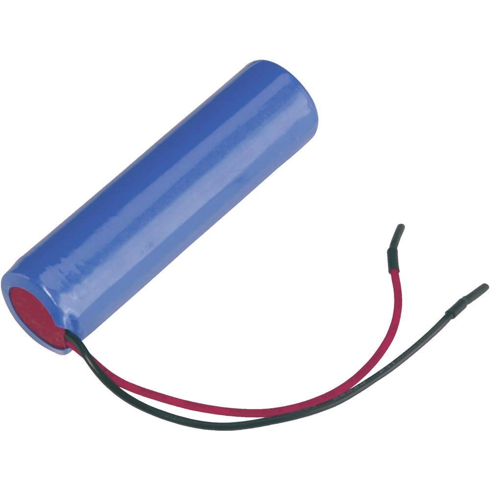 Litij-ionski akumulator s kablom Samsung ICR18650, 3.7 V 2600 mAh (Ø x V) 18.4 mm x 70 mm