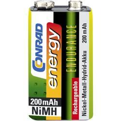 Laddbart batteri 9 V NiMH Conrad energy Endurance 6LR61 200 mAh 8.4 V 1 st