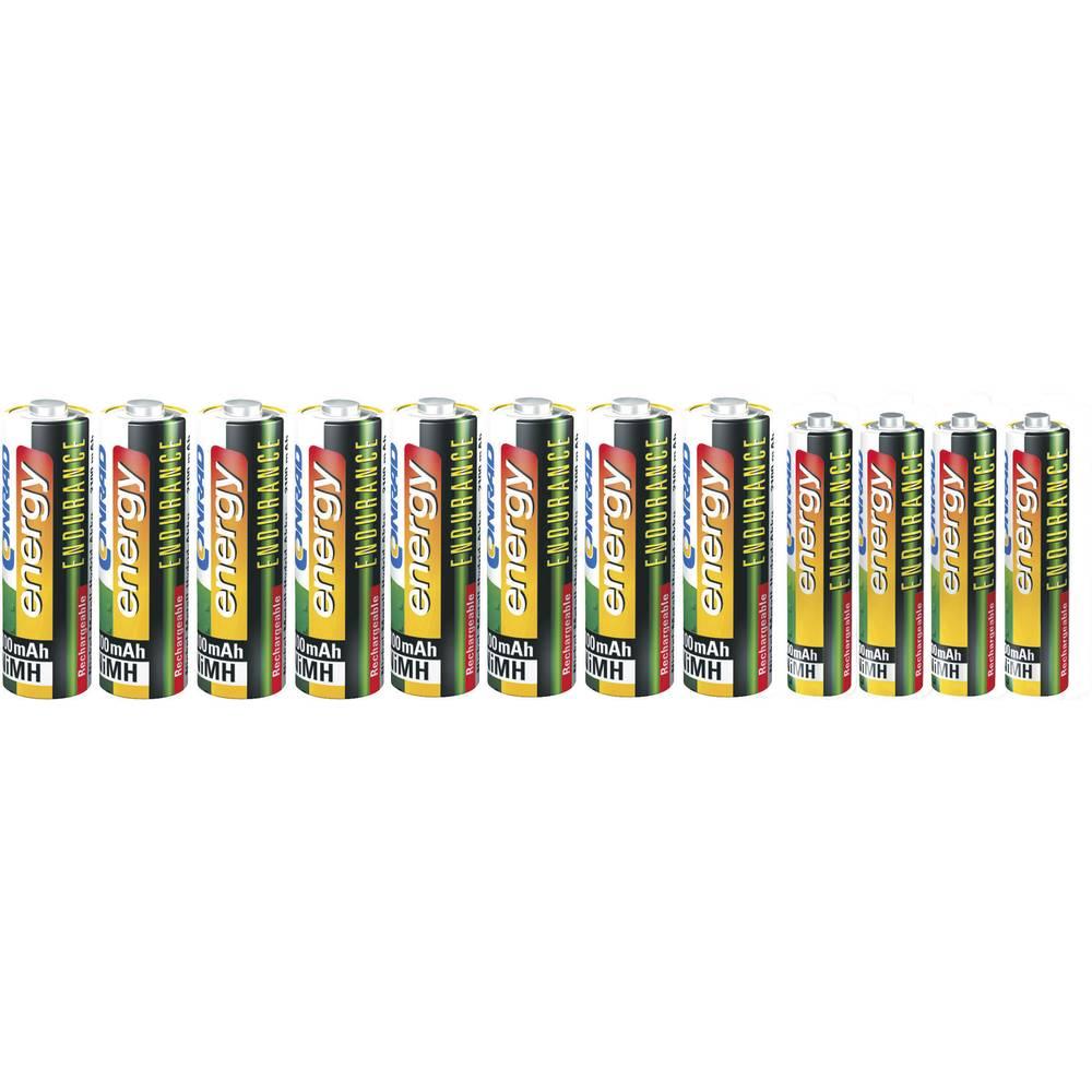 Komplet Endurance NiMH baterija Conrad energy 8x 2200 mAh mignon AA · 4x 800 mAh mikro AAA.
