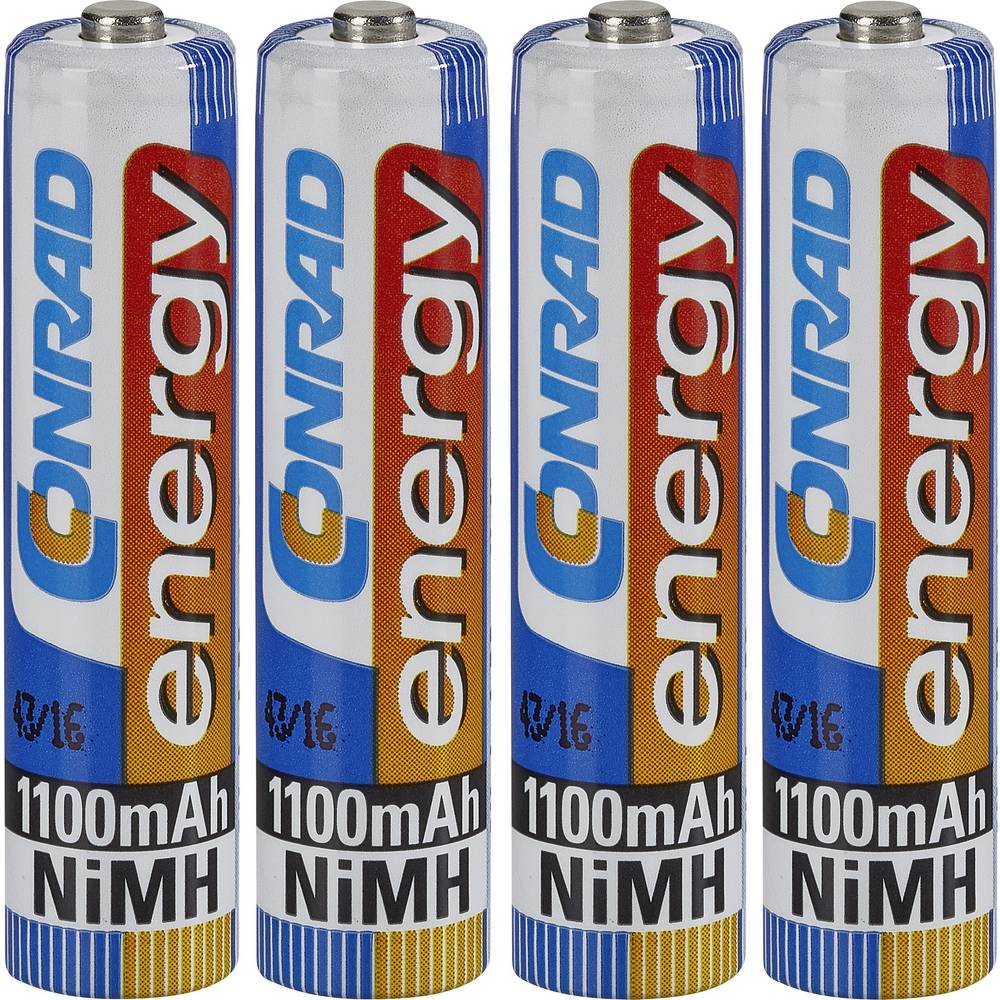 Mikro (AAA) baterija na punjenje NiMH Conrad energy HR03 1100 mAh 1.2 V 4 kom.