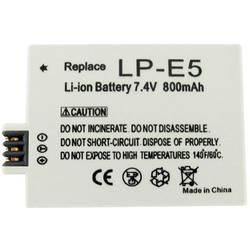 Kamera-batteri Conrad energy Erstatter original-batteri LP-E5 7.4 V 800 mAh